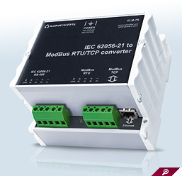 IEC 62056-21 converter to modbus RTU and TCP