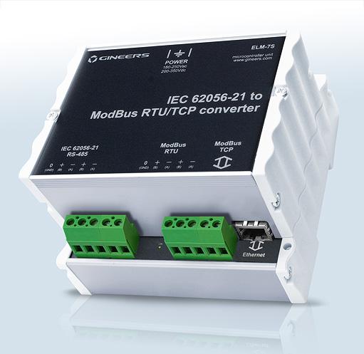 GINEERS - IEC 62056-21 converter to Modbus RTU and TCP
